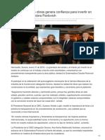 31-01-2018 - Transparencia en obras genera confianza para invertir en Sonora Gobernadora Pavlovich - Las5