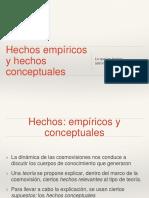 Hechos Empiricos y Hechos Conceptuales