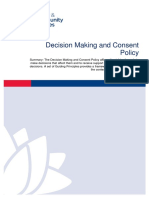 Decision Making and Consent Policy