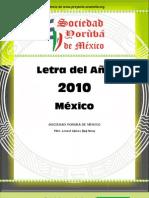 LETRA DEL AÑO MEXICO2010