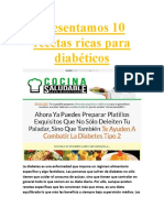 Presentamos 10 Recetas Ricas Para Diabéticos