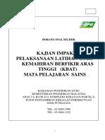 Borang Soal Selidik Sains Kbat 2013