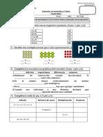 Evaluación de Matemática Operaciones