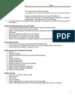 porfolio info intro packet