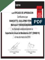 Cap Mandatarios 2017_Certificado de Aprobación