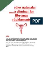 Remedios Naturales Para Eliminar Los Fibromas Rápidamente
