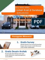 BERKUALITAS, 0822 9000 9990, Jasa Bangun Rumah Kost Di Surabaya