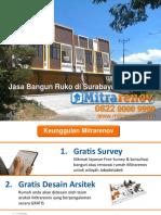 BERKUALITAS, 0822 9000 9990, Jasa Bangun Ruko Di Surabaya