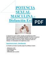 IMPOTENCIA SEXUAL MASCULINA – Disfunción Eréctil