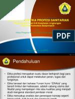 Materi Pembekalan Etika Profesi Sanitarian D3 Kesling