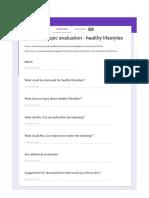 student feedback - screen shots