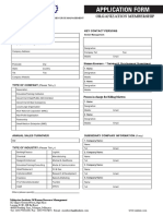 Organization Membership Form