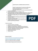Consiga de evaluación del primer consolidado de taller de Televisión II.docx