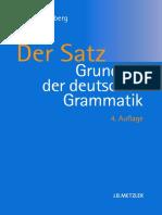 Der Satz ( Grunde der deutsche Grammatik)