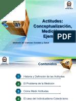 Actitudes Conceptualización, Medición y Ejemplos