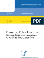 Protecting Public Health and Human Services Programs