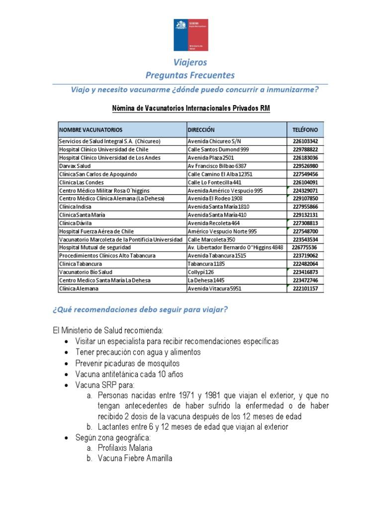 clinica darvax vacuna fiebre amarilla