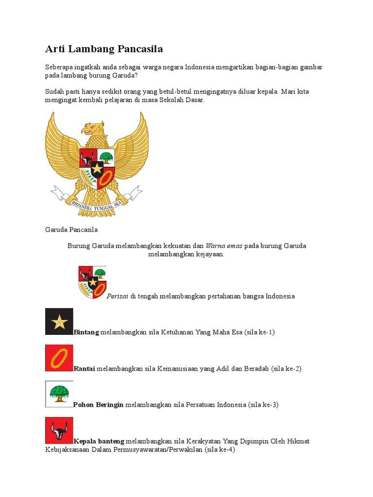Warna Pada Burung Garuda Pancasila