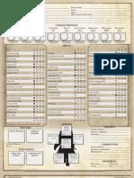 Dark Heresy Character Sheet 5 Page