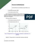 Tipos de Coordenadas CNC