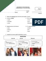 English Exam Octavo 1q g#2