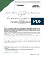 Brémaud - L'Intuition Delirante Comme Phenomene Elementaire de La Psychose