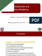 Temario, Evaluación_Introducción a La Física Moderna_ 3AM1_2018-1