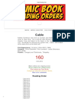 Cable Reading Order