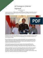 8 Sosok Ideal Cawapres Jokowi Menurut Pengamat