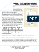 Willamette Valley – Middle Fork Willamette Subbasin Spillway Gates and Reservoir Restrictions