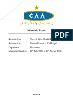 CAA Internship Report