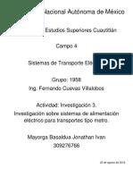 Sistema de Alimetacion Para Transporte Tipo Metro