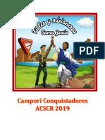Camporee Conquistadores 2019 Fieles y Misioneros como Jesús. Asociación central Sur de Costa Rica