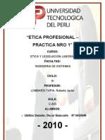 La Etica Profesional Practica 1