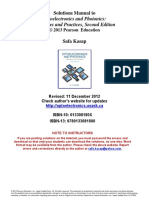Solutions Manual to Optoelectronics And Photonics