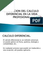 Aplicacion Del Calculo Diferencial en La Vida Profesional