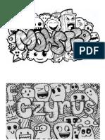 Contoh huruf doodle