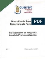 Manual de Procedimientos / Procedimiento de Programa Anual de Profesionalización