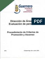 Manual de Procedimientos / Procedimiento de criterios de promoción y ascenso
