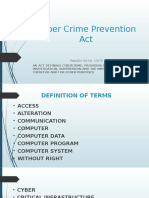 Cyber Crime Prevention Act