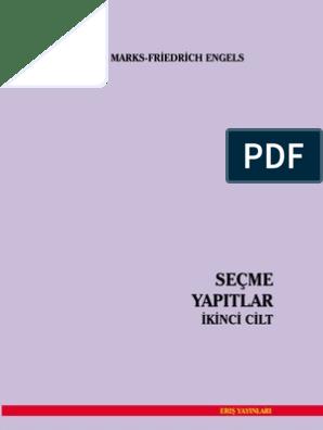 Karl Marks Friedrich Engels Secme Yapitlar 2 Cilt