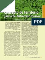 Concepto de Territorio ¿Arma de Destrucción Masiva?