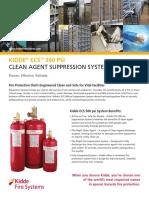Kidde ECS 360 Psi Clean Agent Suppression System SS K-100