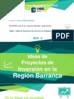 Ideas de Proyectos de Inversión en La Región Barranca