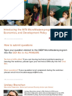 Introducing the MITx MicroMasters program in Data, Economics, and Development Policy