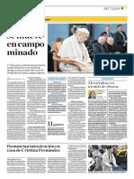 El Papa Se Mueve en Campo Minado