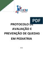 Protocolo de Avaliação e Prevenção de Risco de Quedas Em Pediatria