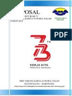 Cover Proposal Hut Ri 73 Smk Tk 76 Nf 2018