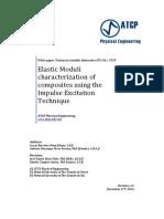 Elastic Modulus Characterization