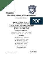 Evolución de Las Constituciones Mexicanas